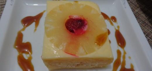 Gâteau  renversé à l'ananas sans cuisson1