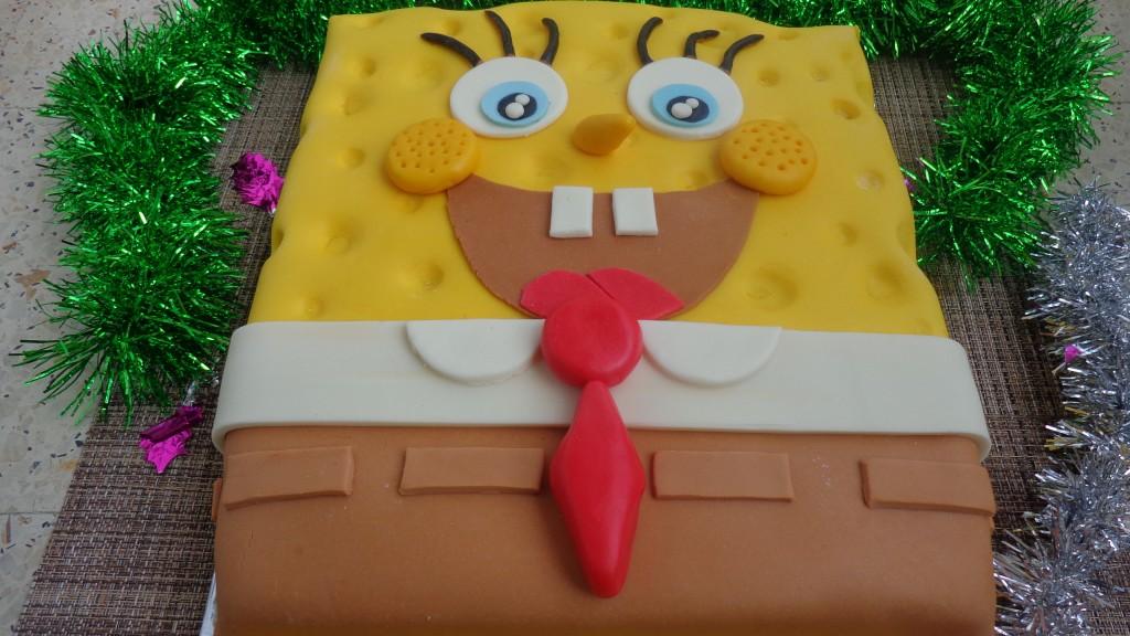 Gâteau d'anniversaire Sponge Bob1