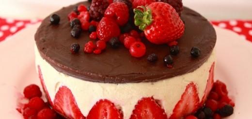 Cheesecake façon fraisier