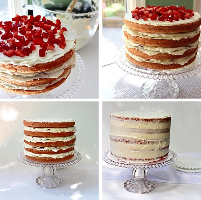 Gâteau aux fraises pour accueillir le beau temps2
