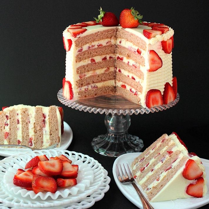 Gâteau aux fraises pour accueillir le beau temps3