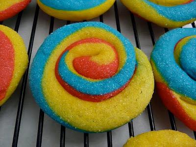 Biscuits spirale arc en ciel1