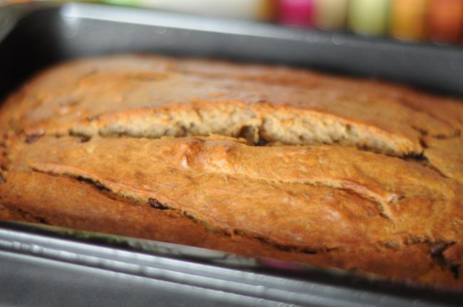 Cake à la banane , noix et pépites de chocolat2