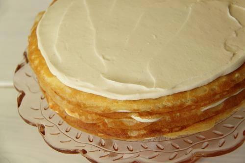 Gâteau de crêpes à la crème3