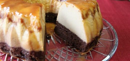 Gâteau de semoule au caramel et chocolat3