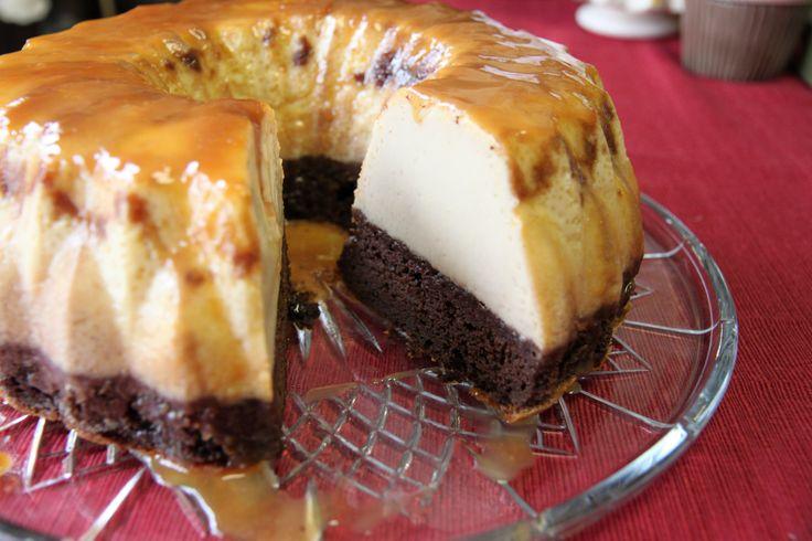 gâteau de semoule au caramel et chocolat – gâteaux & délices