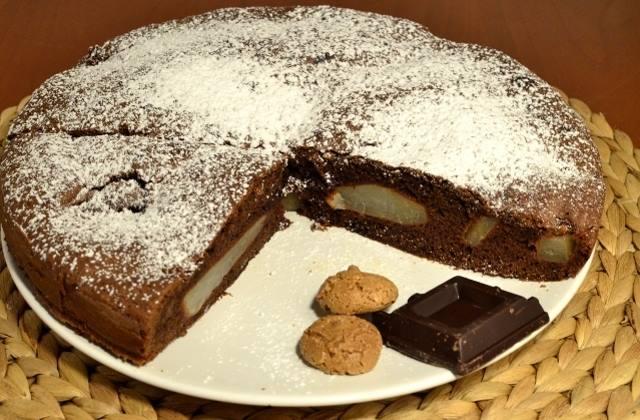 Gâteau poire-chocolat1