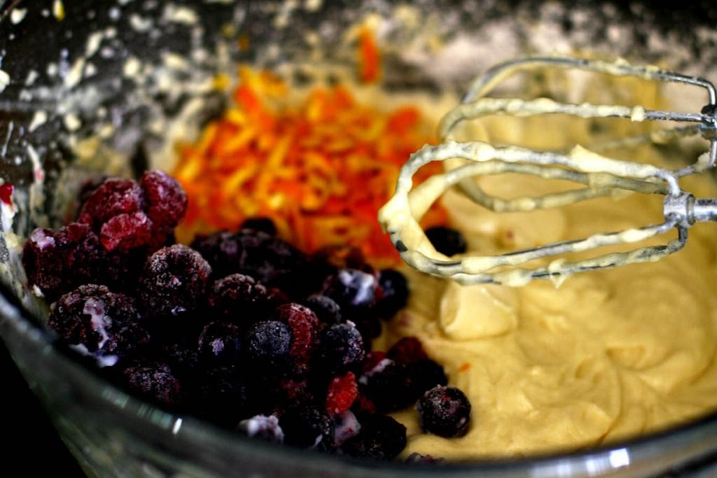 Gâteau yaourt aux fruits des bois2