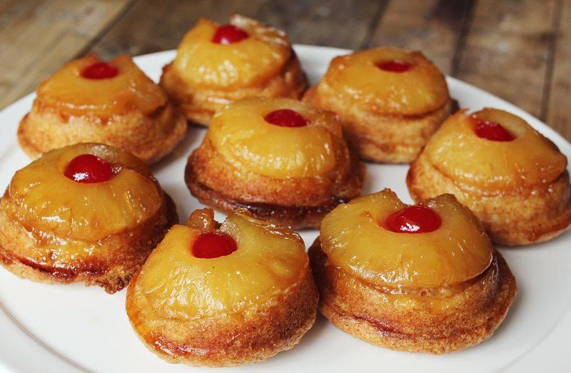 Gâteaux renversés à l'ananas en version individuelle1