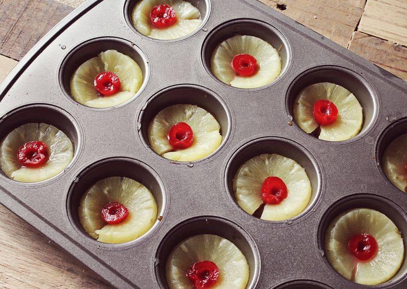 Gâteaux renversés à l'ananas en version individuelle2