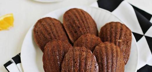 Madeleines au chocolat noir et à l'orange1