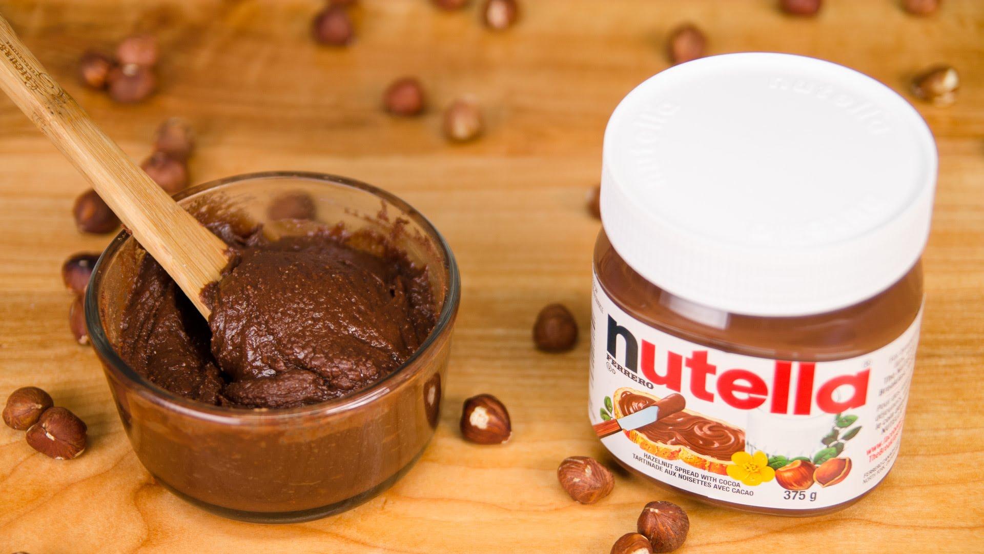 P te tartiner chocolat noisettes fa on nutella g teaux d lices - Nutella maison lait concentre ...