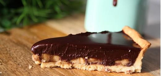 Tarte banane chocolat1