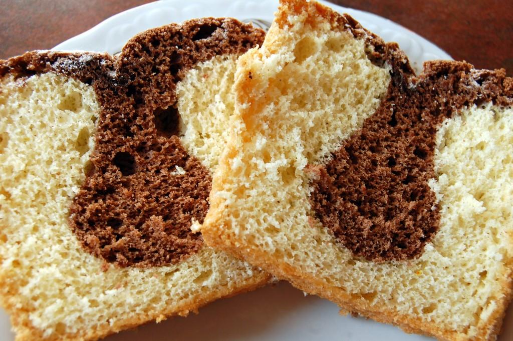 Cake marbré chocolat vanille4