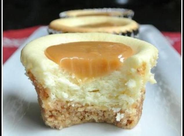 Cheesecake cupcake au caramel2