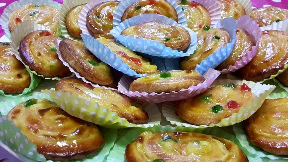 Escargots à la crème pâtissière et aux fruits confits8