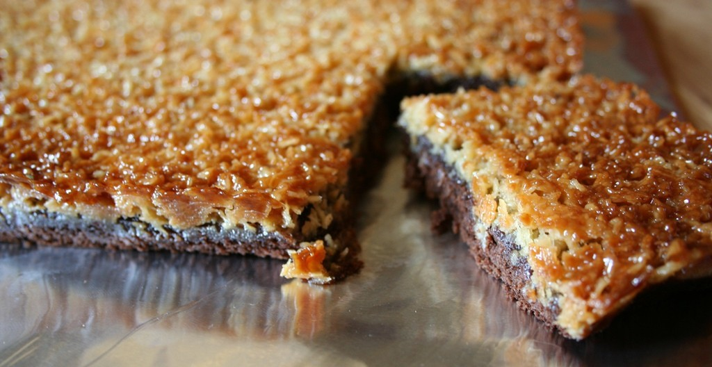 Gâteau au chocolat caramel noix de coco