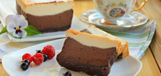 Gâteau au fromage chocolat vanille1