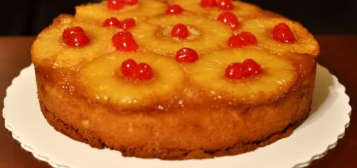 Gâteau renversé à l'ananas1