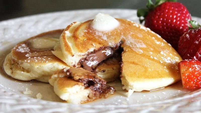 Pancakes fourrés au Nutella1