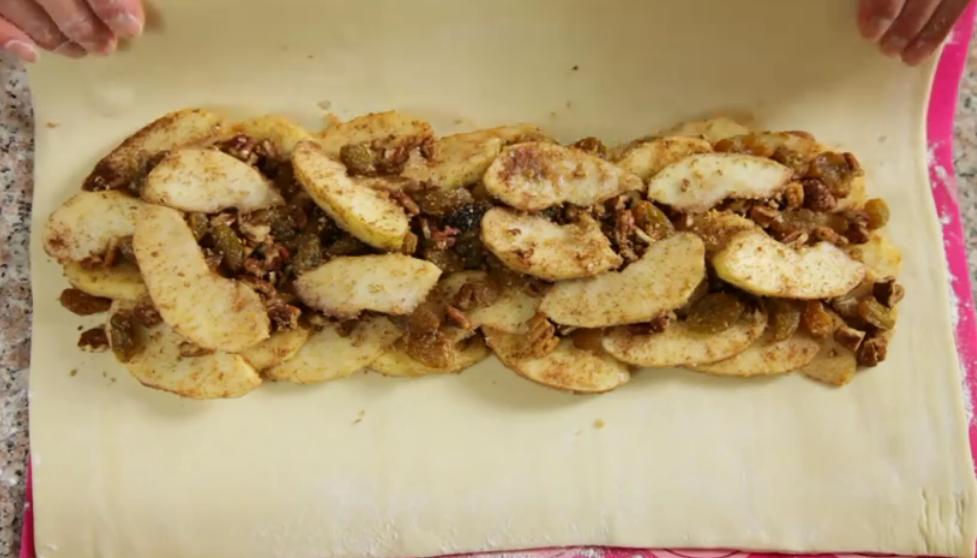 Strudel pommes et raisins3
