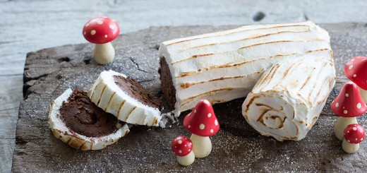 Bûche meringuée chocolat-praliné6