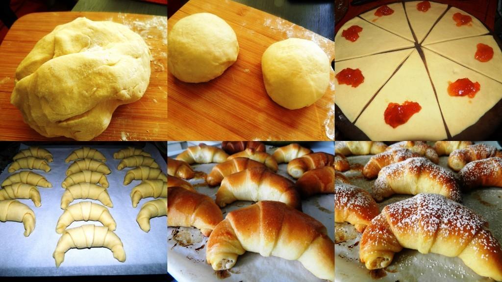 Croissants briochés fourrés à la confiture2