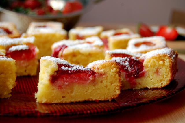 Gâteau au fromage, chocolat blanc et fraises1