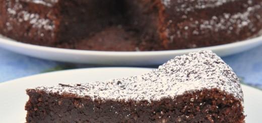 Torta caprese (gâteau au chocolat et aux amandes)1