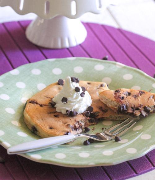 Pancakes ultra moelleux aux pépites de chocolat2