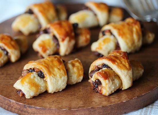 Petits croissants orange chocolat noisettes1