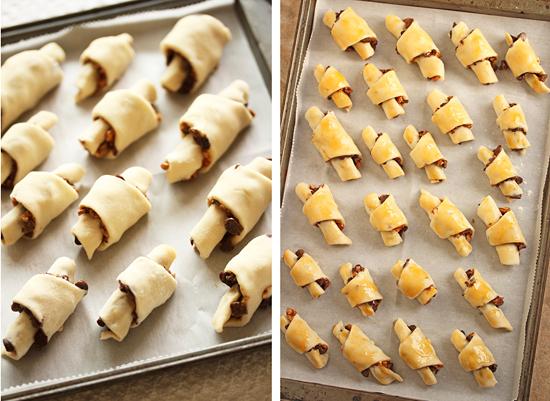 Petits croissants orange chocolat noisettes4