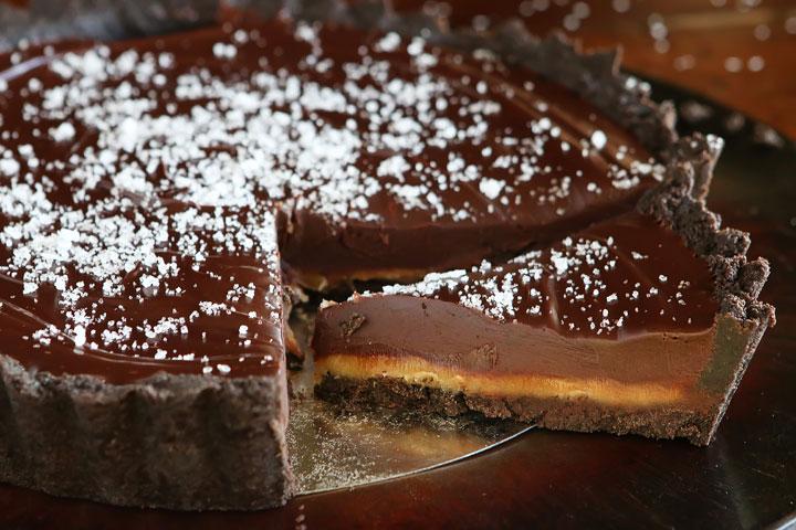 tarte au chocolat et caramel beurre sal g teaux amp d lices