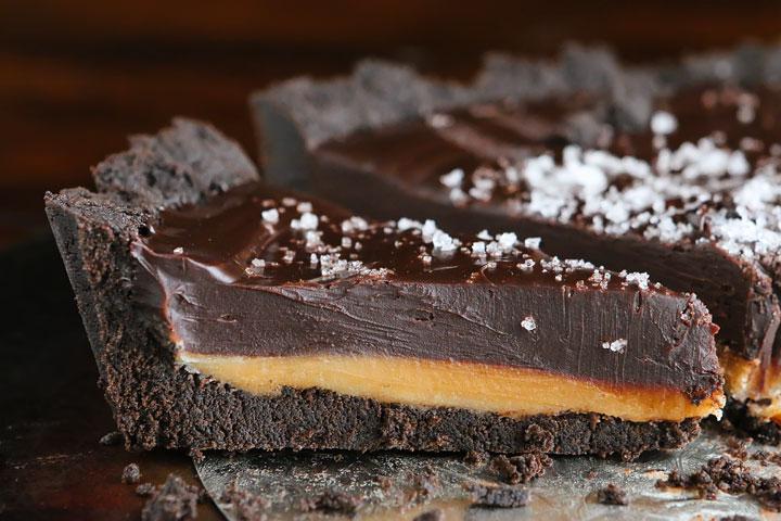 Tarte au chocolat et caramel beurre salé8