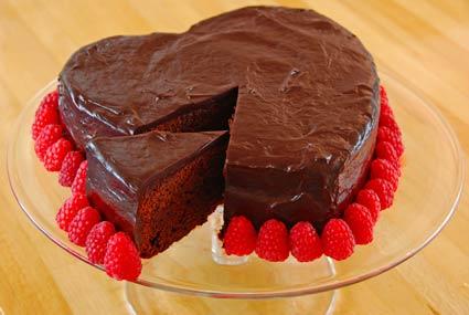 Gateau chocolat-framboise1