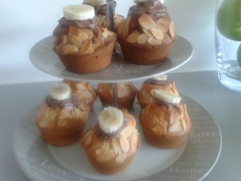 Muffins à la banane et Nutella1