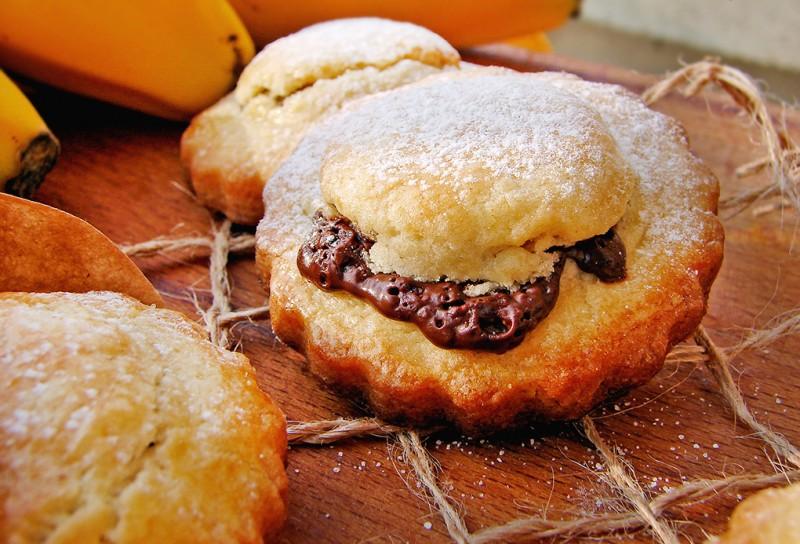 Petits sablés banane chocolat1