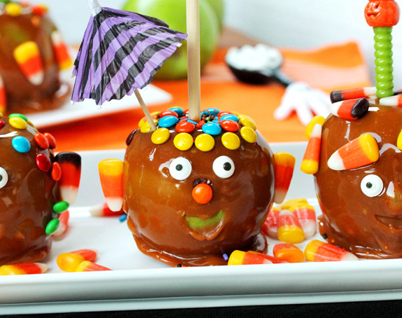 Pommes aux caramel pour les enfants1