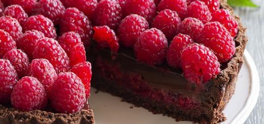 Tarte au chocolat et framboises2