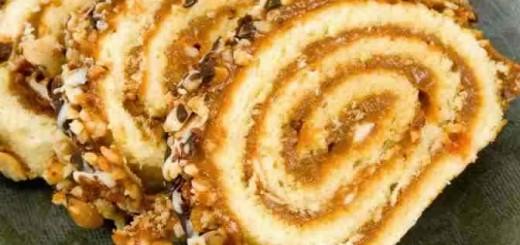 Biscuit roulé au caramel beurre salée1