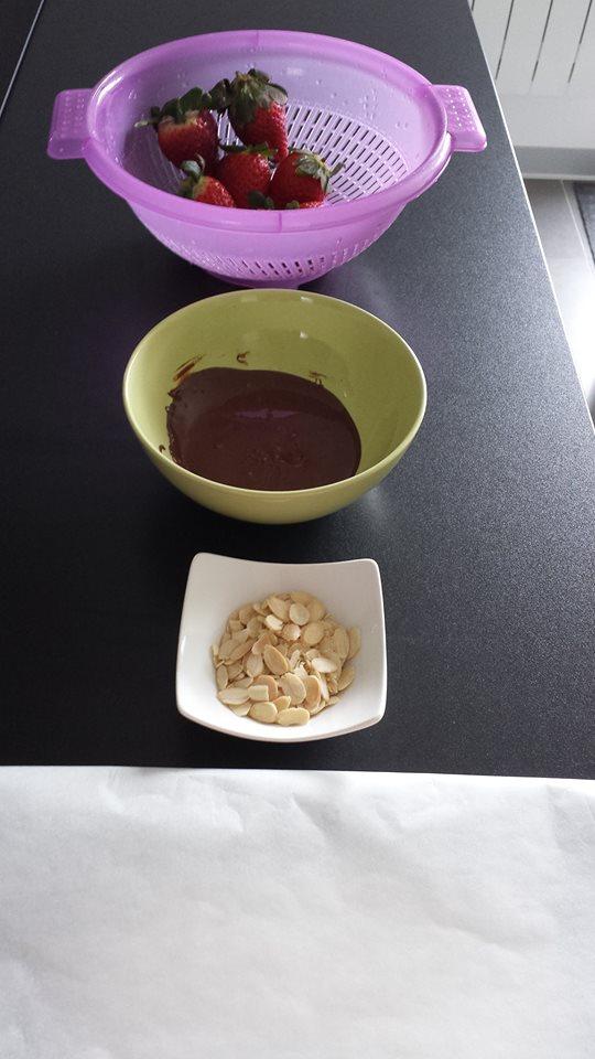 Fraises enrobées au chocolat4