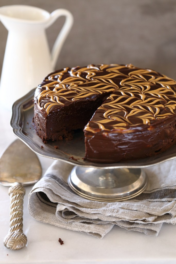 Gâteau au chocolat et beurre de cacahuète sans farine