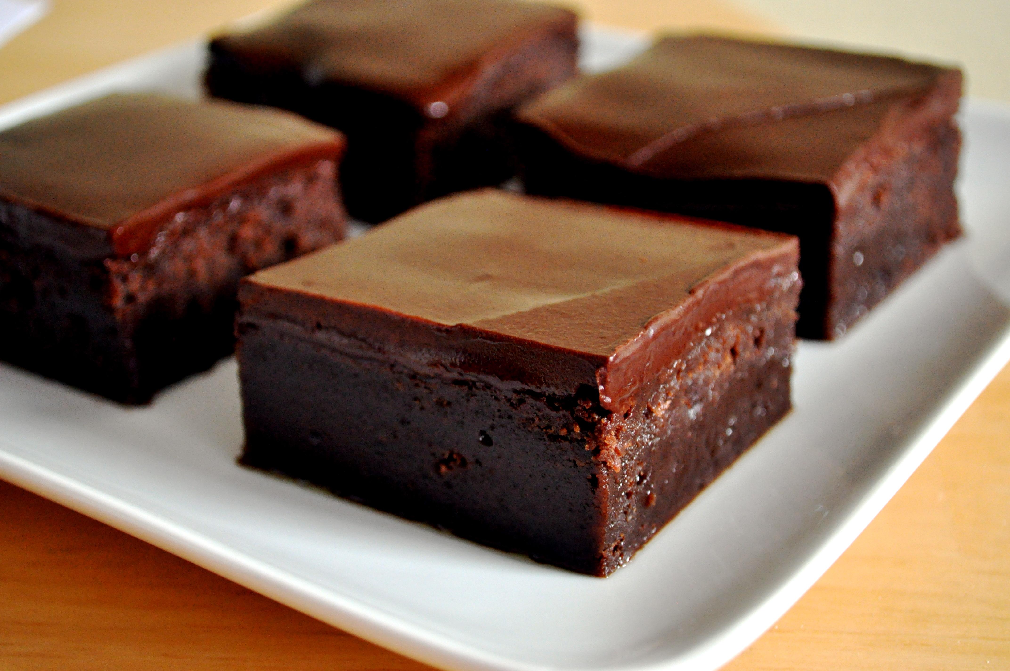 Glacage Chocolat Noir Sur Un Cake