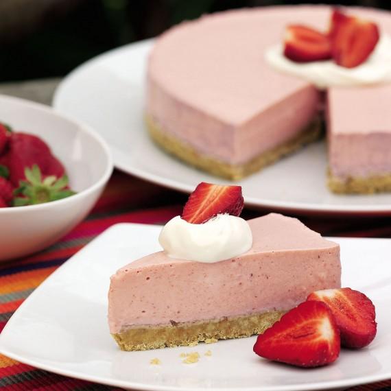 Gâteau aux mousse fraise