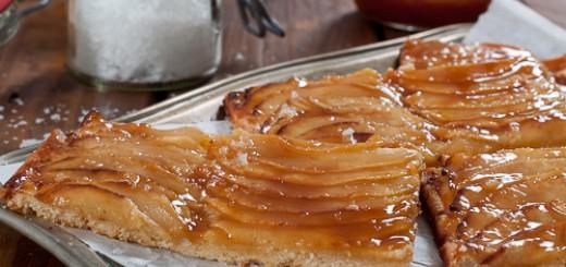 Tarte fine aux pommes caramélisées5