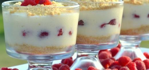 Verrines gourmandes aux framboises et crème pâtissière1