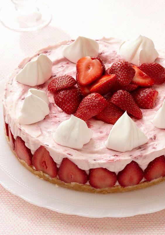 Cheesecake aux fraises sans cuisson1