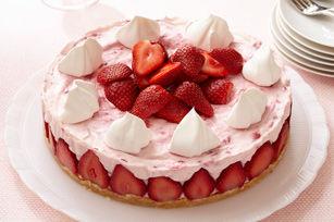 Cheesecake aux fraises sans cuisson2