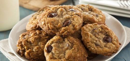 Cookies Flocons D'avoine et pépites de Chocolat