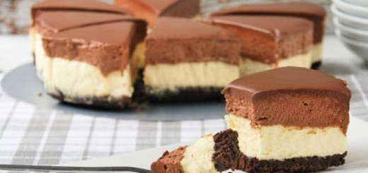 Cheesecake et mousse au chocolat1